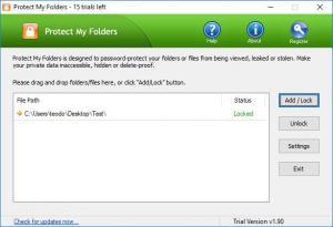 Enlarge Protect My Folders Screenshot