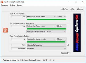 Enlarge AutoPowerOptionsOK Screenshot