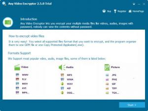 Enlarge Any Video Encryptor Screenshot