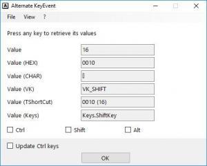 Enlarge Alternate Key Event Screenshot