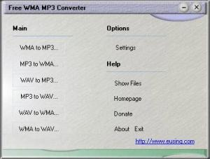 Enlarge Free WMA MP3 Converter Screenshot