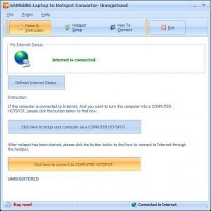 Enlarge SAMSUNG Laptop to Hotspot Converter Screenshot