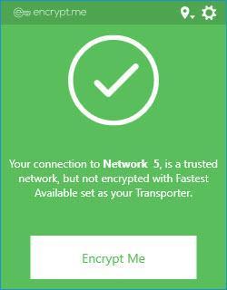 Enlarge Encrypt.me Screenshot