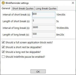 Enlarge BlinkReminder Screenshot