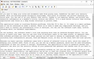 Enlarge SafeNotes Screenshot