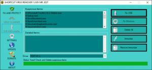 Enlarge Shortcut Virus Remover Screenshot