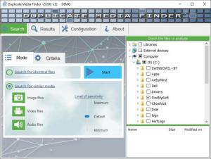 Enlarge Duplicate Media Finder Screenshot