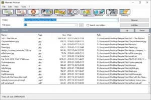 Enlarge Alternate Archiver Screenshot