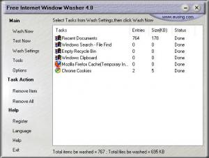 Enlarge Free Internet Window Washer Screenshot
