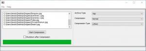 Enlarge 7zip Batch Compression Screenshot