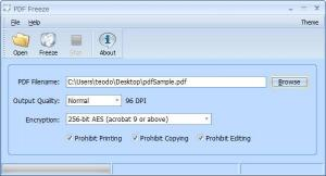Enlarge PDF Freeze Screenshot
