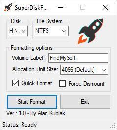 Enlarge SuperDiskFormatter Screenshot