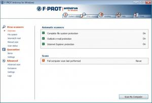 Enlarge F-Prot Antivirus Screenshot