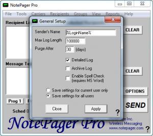 Enlarge NotePager Pro Screenshot