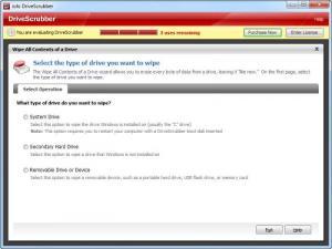 Enlarge DriveScrubber Screenshot