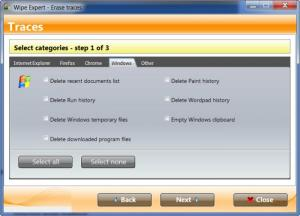 Enlarge Wipe Expert Screenshot