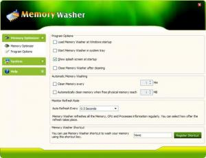 Enlarge Memory Washer Screenshot