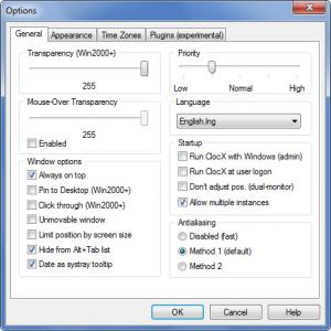 Enlarge ClocX Screenshot