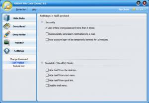 Enlarge GiliSoft File Lock Screenshot