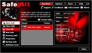 Enlarge SafeBit Disk Encryption Screenshot