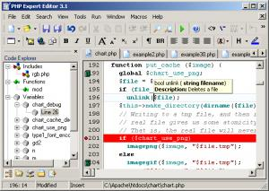 Enlarge PHP Expert Editor Screenshot
