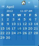 Enlarge Desktop Calendar Screenshot