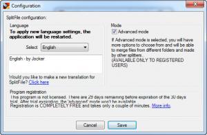 Enlarge SplitFile Screenshot