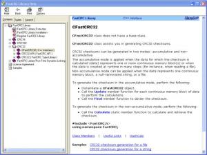Enlarge FastCRC Library Screenshot