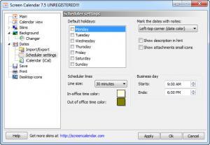Enlarge Screen Calendar Screenshot
