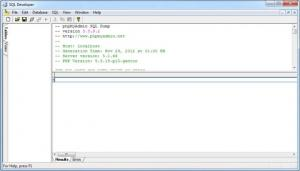 Enlarge SQL Developer Screenshot