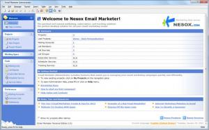 Enlarge Nesox Email Marketer Personal Edition Screenshot