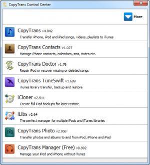 Enlarge CopyTrans Screenshot