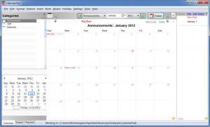 Enlarge Web Calendar Pad Screenshot