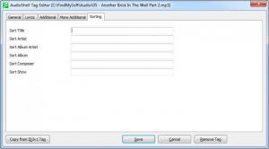 Enlarge AudioShell Screenshot