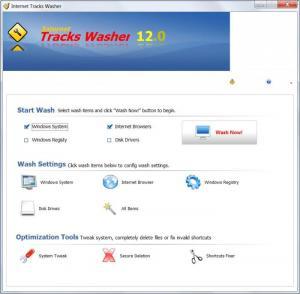 Enlarge Internet Tracks Washer Screenshot