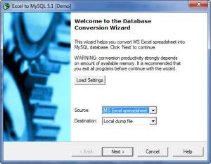 Enlarge MySQL Migration Toolkit Screenshot