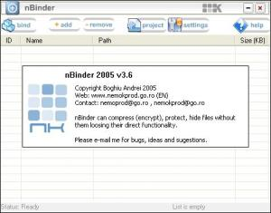 Enlarge nBinder Screenshot