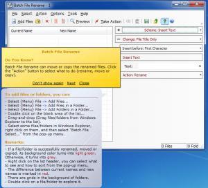 Enlarge Batch File Rename Screenshot