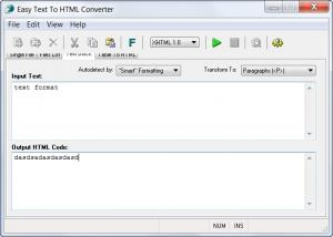 Enlarge Easy Text To HTML Converter Screenshot