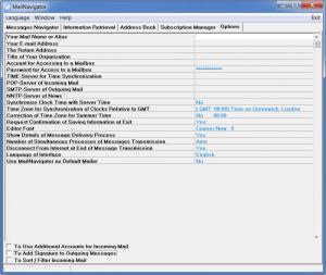 Enlarge MailNavigator Screenshot