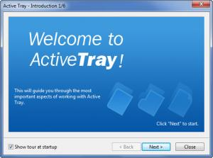 Enlarge Active Tray Screenshot