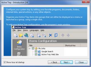 Enlarge Active Tray Screenshot