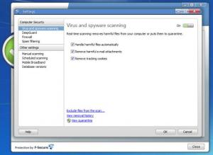 Enlarge F-Secure Internet Security Screenshot