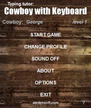Enlarge Cowboy with Keyboard Screenshot