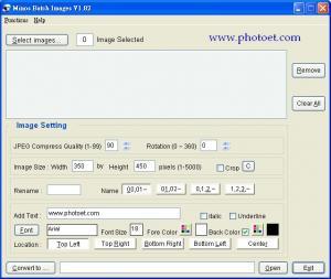 Enlarge Minos Batch Images Screenshot