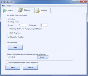 Enlarge UnHackMe Screenshot