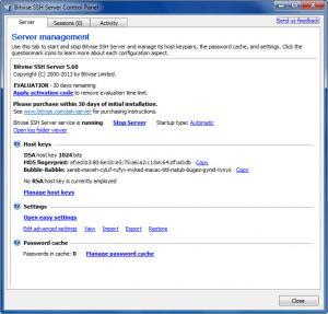 Enlarge WinSSHD Screenshot