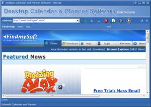 Enlarge Desktop Calendar and Personal Planner Screenshot