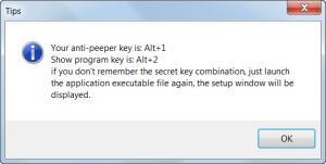 Enlarge Anti-Peeper Key Screenshot