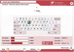 Enlarge GS Typing Tutor Screenshot